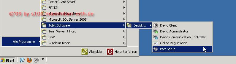 David.fx Neuen Port Einrichten