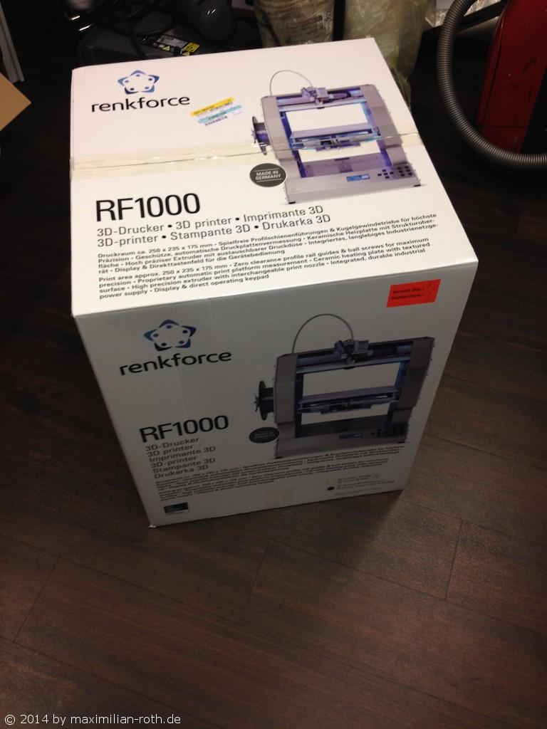 3d drucker conrad renkforce rf1000 mediaman 39 s electronic page. Black Bedroom Furniture Sets. Home Design Ideas